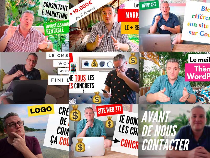 Premières vidéos de Nicolas Laruelle pour l'agence premium Kim Communication