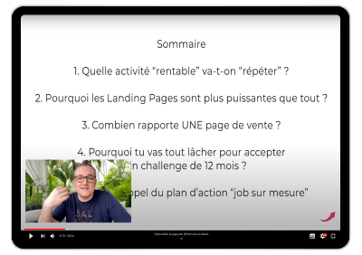Plan d'action : formation copywriting, pages de vente