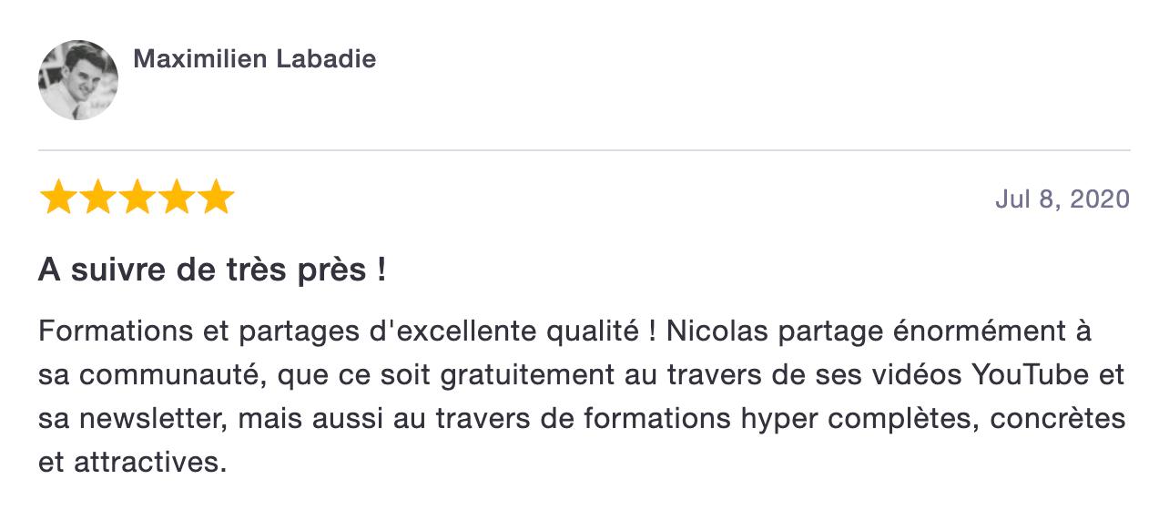 Avis Nicolas Laruelle - PROduNum.com - PROduNumerique.com